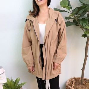 FOREVER21 Nude Trench Coat Fully Lined Large